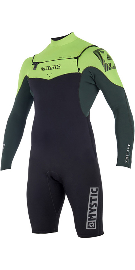 d3ab49a32a44 2019 Mystic Star 3/2mm Chest Zip long Arm Shorty Wetsuit Teal 180048 ...