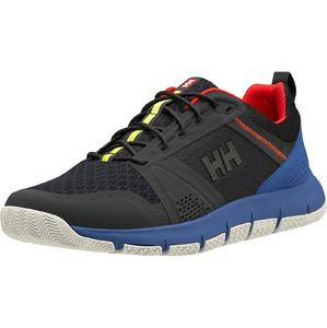 2020 Helly Hansen Skagen F-1 Zapatos De Navegación En Alta Mar 11312 - ébano / Azul Real