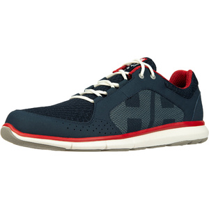 2021 Helly Hansen Ahiga V4 Hydropower Chaussures De Voile 11582 - Navy / Rouge Drapeau