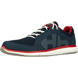 2020 Helly Hansen Ahiga V4 Hydropower Zapatos De La Navegación 11582 - Navy / Bandera Roja