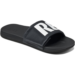 Reef Mens Cushion Bounce Slide Sandals / Flip Flops Black / White RF0A3OL5BIO