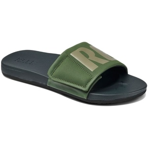 Reef Mens Cushion Bounce Slide Sandals / Flip Flops Olive / Grey RF0A3OL5OGL