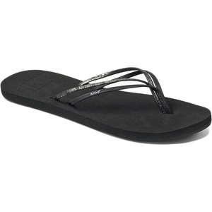 Reef Womens Double Bliss Vegan Sandals / Flip Flops Black F0A3OKRBLA
