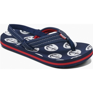 2019 Reef Kids Little Ahi Sandals / Flip Flops Anchors RF002345