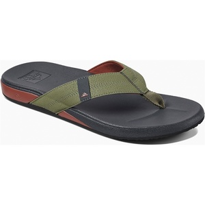 2019 Reef Mens Cushion Bounce Phantom Sandals / Flip Flops Olive / Red RF0A3FDI
