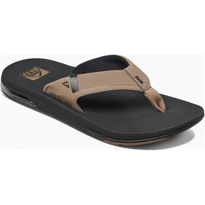 2019 Reef Mens Fanning Sandals / Flip Flops Low Black / Tan RF0A3KIH