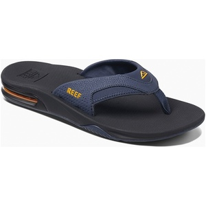 2019 Reef Mens Fanning Sandals / Flip Flops Navy / Yellow RF002026