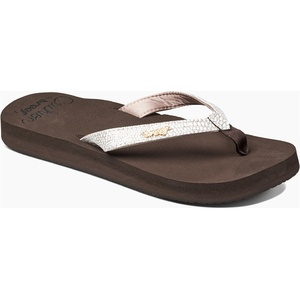 2019 Reef Womens Star Cushion Sassy Sandals / Flip Flops Brown / White RF001384