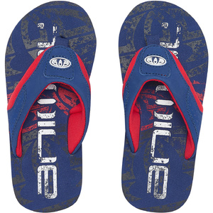 2019 Animal Junior Boys Jekyl Logo Flip Flops Seaport Blue Fm9sq600