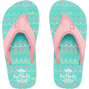 2019 Animal Junior Fille Swish Aop Tongs Turquoise Fm9sq802