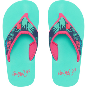 2019 Animal Junior Girls Swish Oberen Aop Flip Flops Türkis Fm9sq801