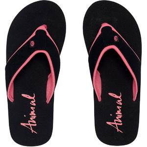 2020 Animal Frauen Swish Block Flip Flops / Sandalen Fm0ss301 - Schwarz