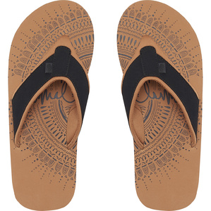 Animal Womens Swish Placement Flip Flops Black FM9SQ310