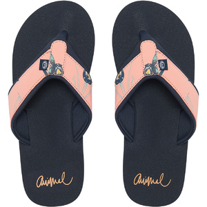 2019 Animal Womens Swish Upper AOP Flip Flops Sunset Pink FM9SQ307