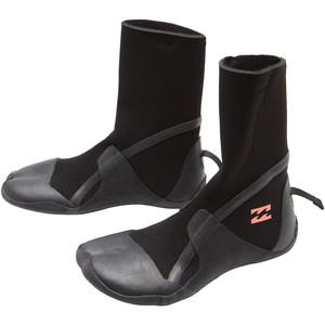 2021 Billabong Synergy Womens 3mm Hidden Split Toe Wetsuit Boots Z4BT40 - Black