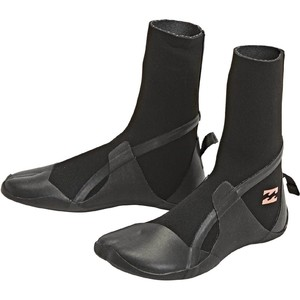 2020 Billabong Womens Synergy 5mm Hidden Split Toe Boots U4BT32 - Black