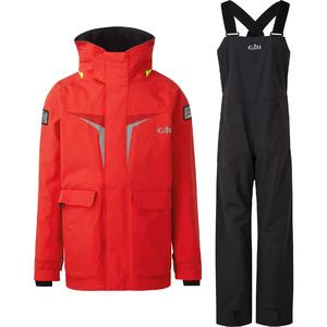 2021 Gill Os3 Junior Coastal Jacke & Hose Kombi - Set - Leuchtend Rot / Graphite