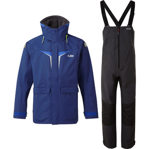 2021 Gill OS3 Mens Coastal Jacket & Trouser Combi Set - Dark Blue / Graphite