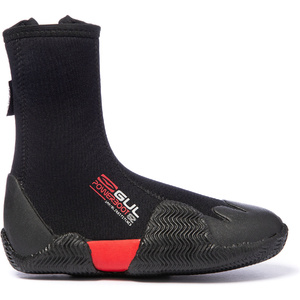 2019 Gul Power 5mm Botas Com Zíper No Dedo Do Pé Redondo Bo1306-b2 - Preto
