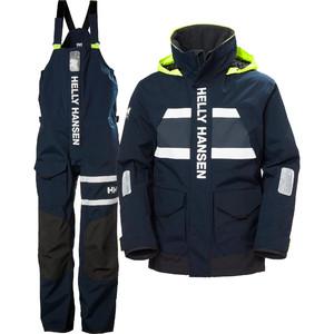 2021 Helly Hansen Mænds Salt Coastal Jakke & Bukser Combi Sæt - Navy