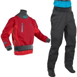 2020 Conjunto Combinado De Chaqueta Y Pantalón Kayak Atom Whitewater Para Hombre Palm - Chilli Flame / Jet Grey