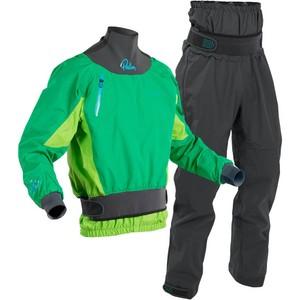 Set Giacca E Pantalone Da Kayak Zenith Whitewater 2020 Palm Uomo E Pantalone - Menta Lime / Grigio