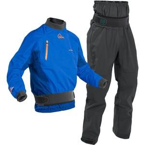 2020 Palm Aumento De Los Hombres Chaqueta De Kayak De Aguas Blancas Y Cenit Dry Pantalón Conjunto Combi - Cobalto / Gris