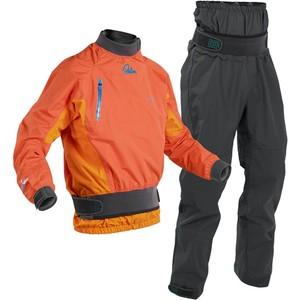 Conjunto Combinado De Chaqueta De Kayak De Agua Blanca Para Hombre 2020 Palm Y Pantalón Dry Zenith Dry - Mandarin / Gris