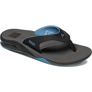 Reef Fanning Bottle Opener Flip Flops GREY / LIGHT BLUE R2026