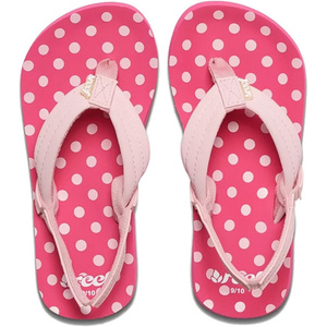 2019 Reef Junior Little Ahi Sandalen / Flip Flops Tupfen Rf002199pkd1