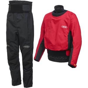 2020 Yak Zeus Kayak Whitewater Cag & Chinook Trouser Combi Set - Rojo / Negro