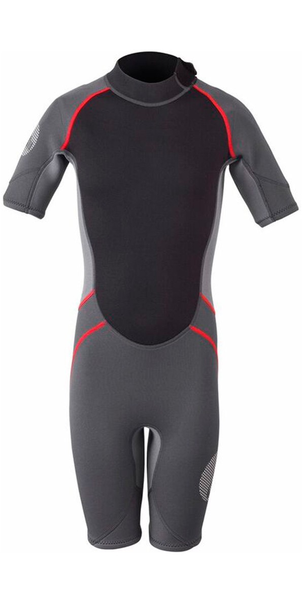 2019 Gill Junior 3/2mm Shorty Wetsuit Graphite / Essen 4603j
