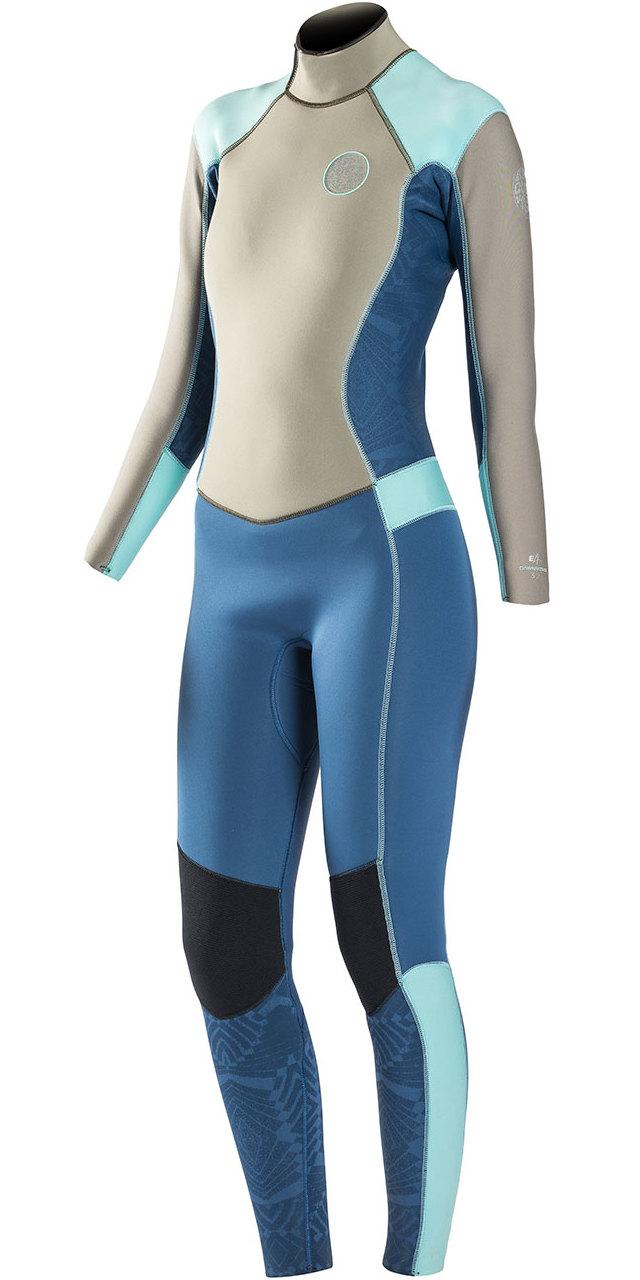 0c7c05e917 Rip Curl Womens Dawn Patrol 4/3mm GBS Back Zip Wetsuit BLUE WSM6FW