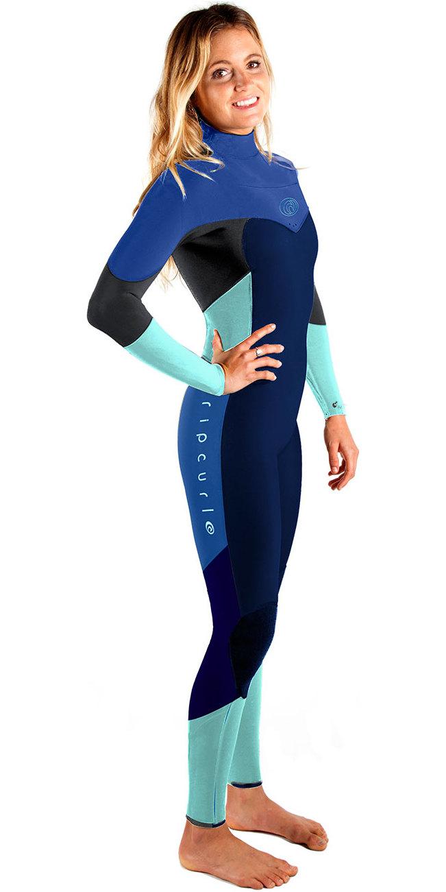 Rip Curl Womens Flashbomb 4 3mm Chest Zip Wetsuit Navy Wsm6fg ... 936abb1c13c9