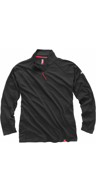 2018 Gill Tec UV Homme Zip Neck Top Charcoal UV003