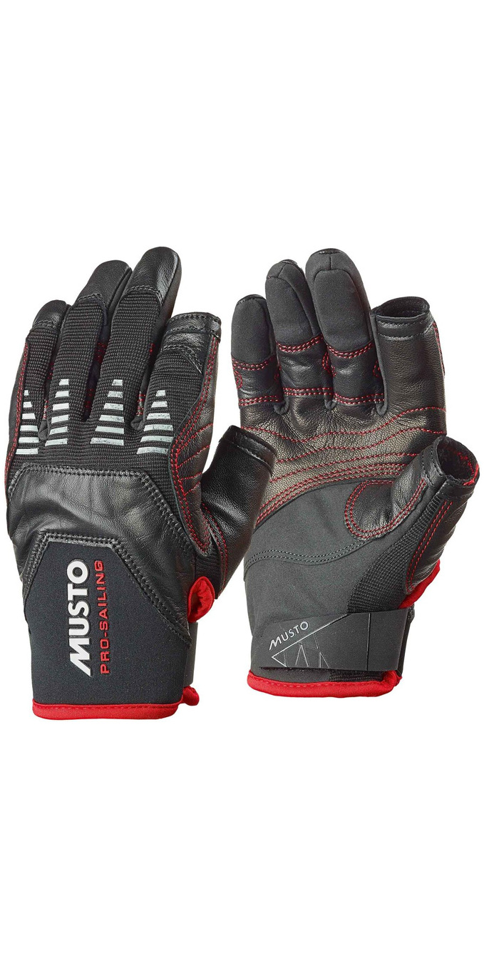 Musto Evolution Sailing Long Finger Glove NEGRO AE1080