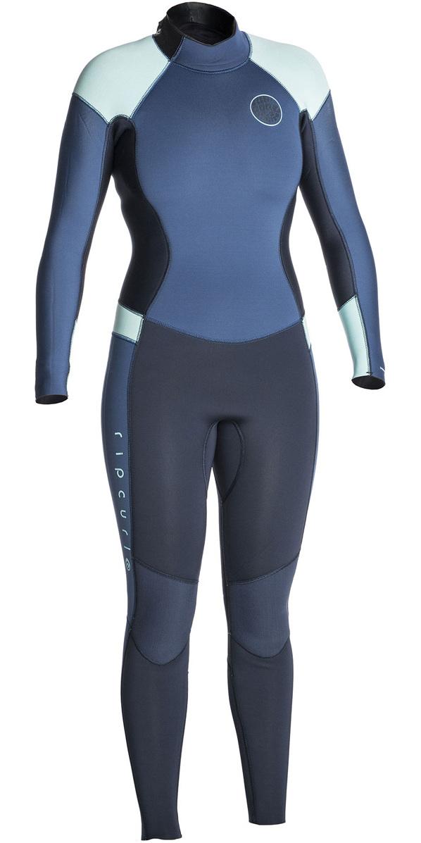 8ffb4f4295 2018 Rip Curl Womens Dawn Patrol 4 3mm Back Zip Wetsuit DARK BLUE WSM6FW ...