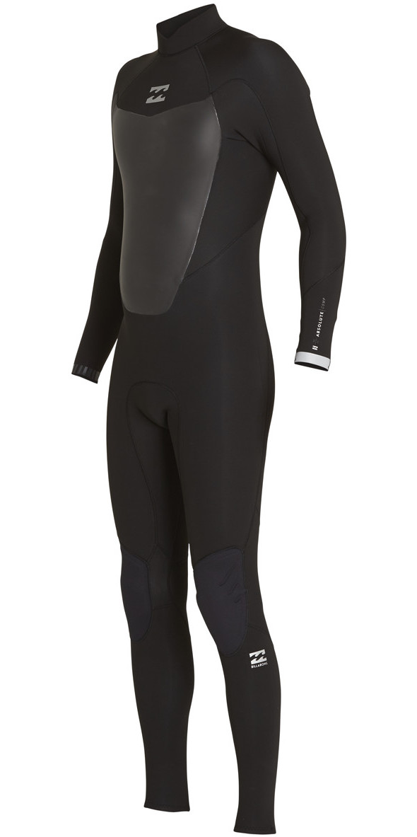 4320f87e6a 2018 Billabong Absolute Comp 5 4mm Back Zip Wetsuit Black F45m22 ...