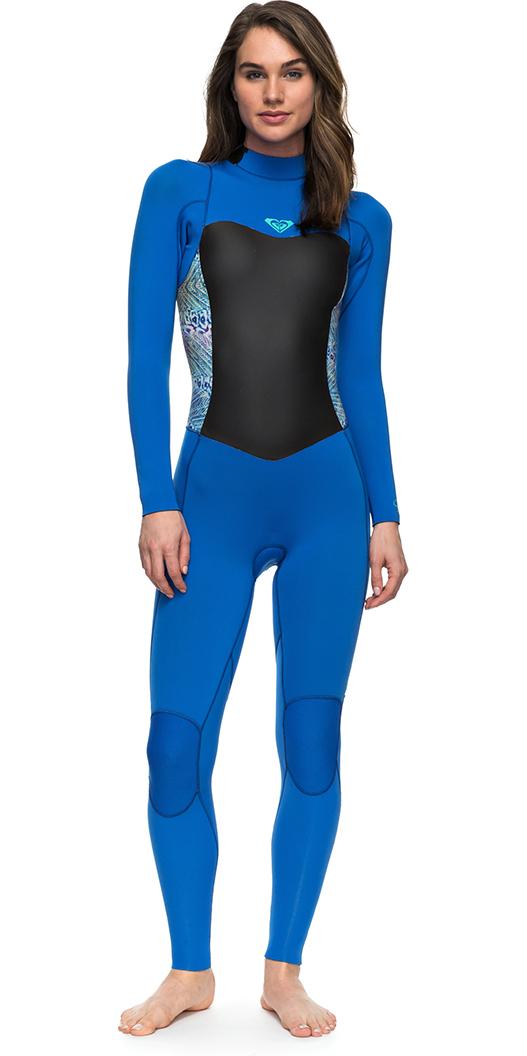 2018 Roxy Syncro Series 4 3mm GBS Back Zip Wetsuit BLUE ERJW103027 ... 0717349c5604
