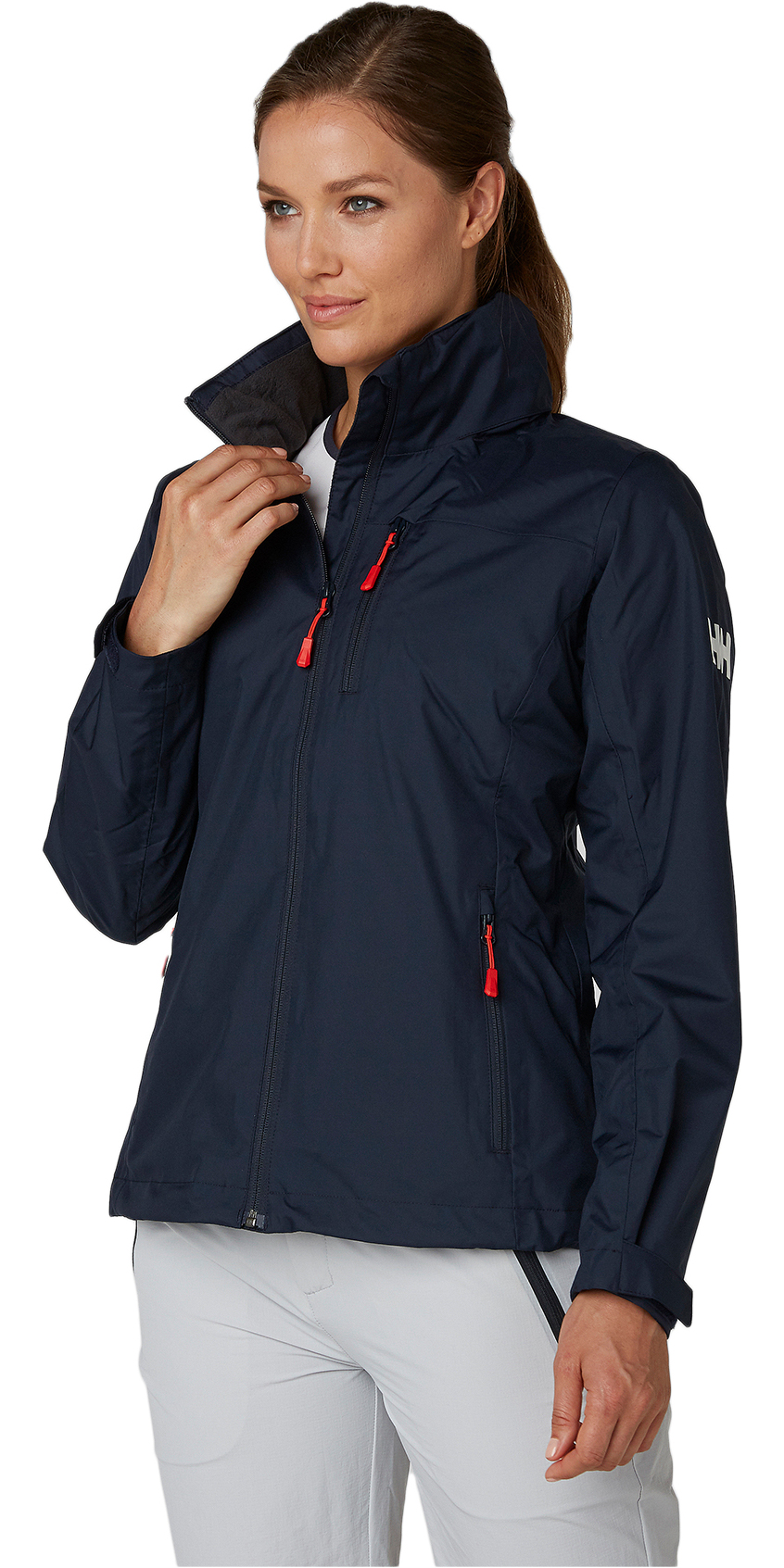 4cf9a822 2019 Helly Hansen Dame Hooded Crew Mid Layer Jacket Navy 33891 ...