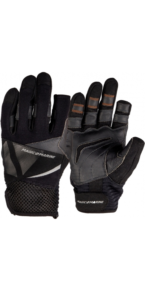 2019 Magic Marine Junior Three Finger Ultimate guantes de vela negro 180005