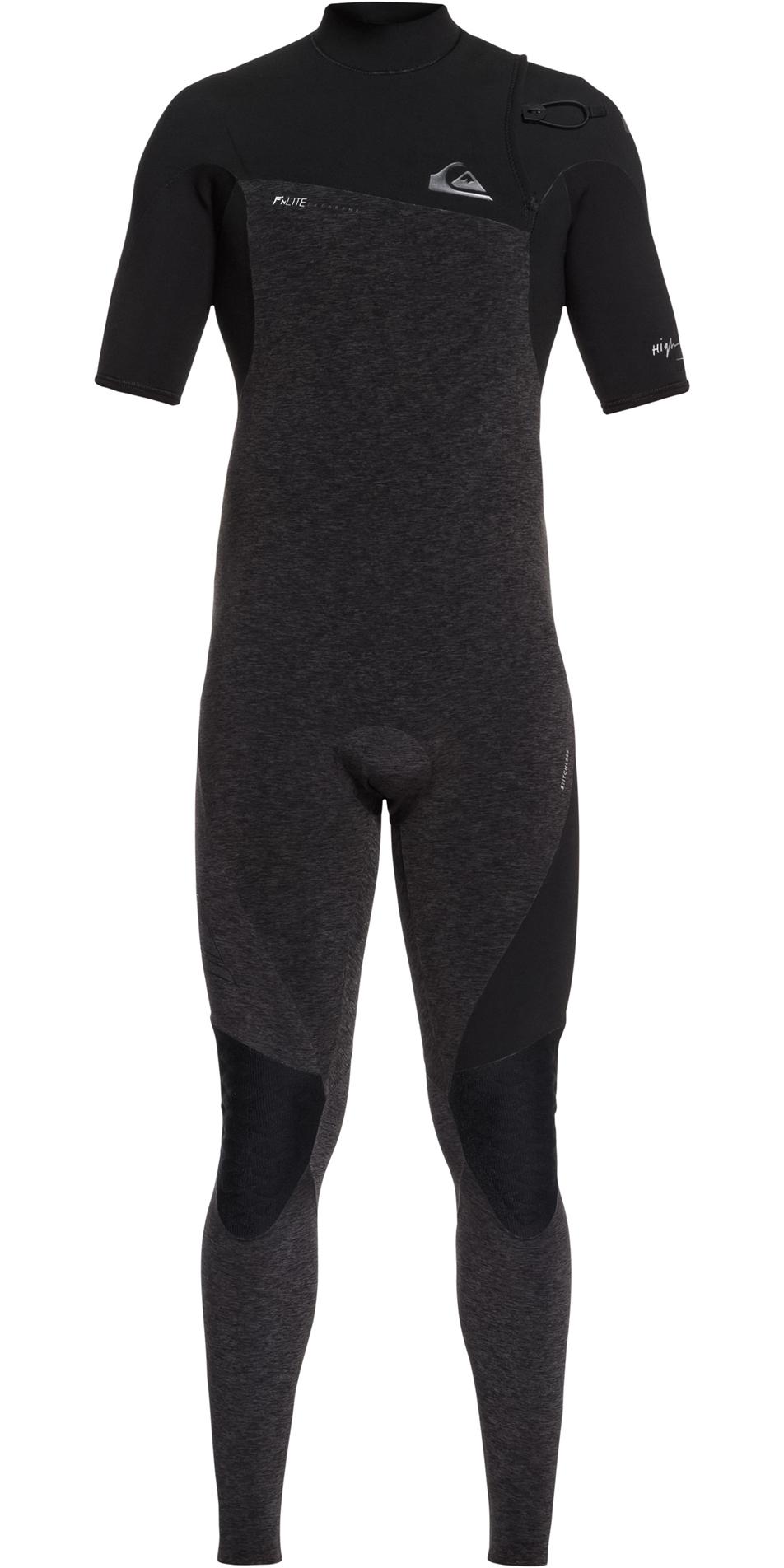 f70f618a1fe9 2019 Quiksilver Highline 2mm Zipperless Short Sleeve Wetsuit Black  EQYW303009 ...