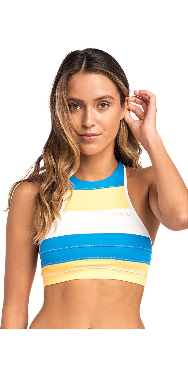 a642cdec72 2019 Rip Curl Womens Heat Waves Crop Bikini Top Mango GSIFN5 ...