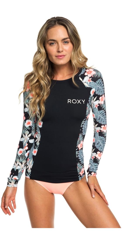 664376f0b0cf 2019 Roxy Manga Larga Moda Mujer Lycra Antracita Tropicala Erjwr03287