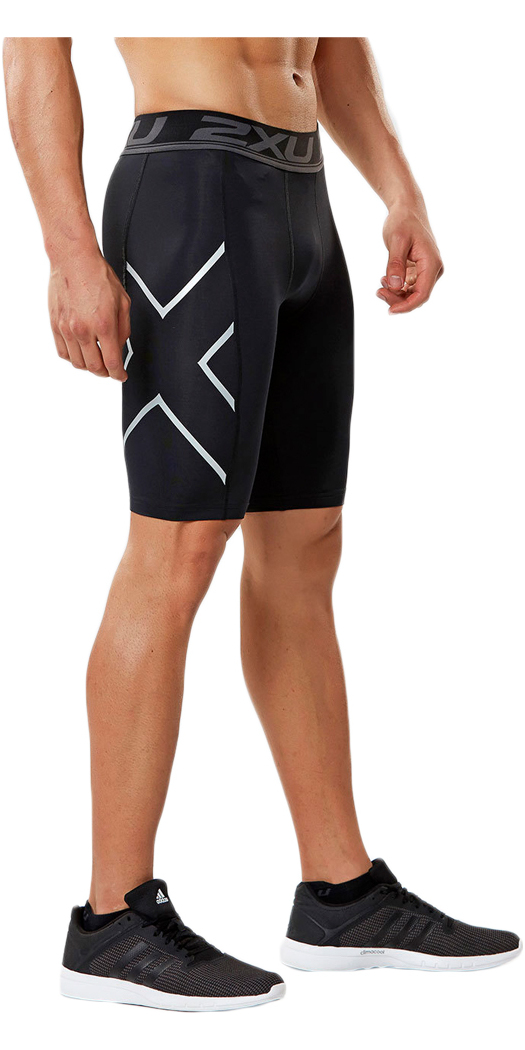 2XU Accelerate Compression Shorts Compression with a waistband designed for ultimate comfort for activities where you bend at the waist or floorwork where drawstrings may be bulky. The 2XU Accelerate Compression Shorts will also sit flat under your gear as a baselayer. Product Details Compression Benefits Reduced muscle fatigue and soreness Reduced muscle damage and risk of overuse injuries Improved performance Improved muscle alignment Increased agility Fabric Benefits Lightweight yet powerful PWX fabrics Durable yarns that outlasts the competition Multi-directional stretch Flexible & breathable Moisture wicking yarns to help keep you dry UPF50+ sun protection Antibacterial Rise: Regular Waistband: 5cm 2XU jacquard elastic Fabric (Front): PWX 70D. 72% Nylon / 28% Elastane (Invista LYCRA®) Fabric (Back): PWX 105D. 65% Nylon / 35% Elastane (Invista LYCRA®) Garment Features Compression support to adductor, glute, quad and hamstring muscles to reduce muscle vibration PWX 70D fron