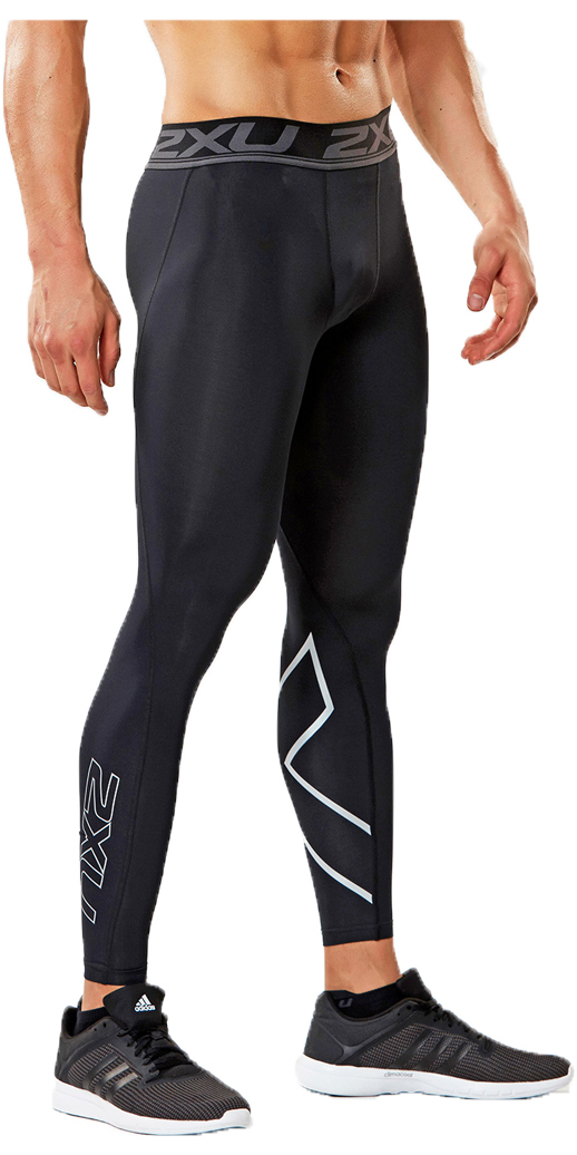 2XU Accelerate Compression Tights Compression to reduce muscle soreness and improve recovery with a waistband designed for ultimate comfort ideal for activities where you bend at the waist or floorwork where drawstrings may be bulky. The 2XU Accelerate Compression Tights will also sit flat under your gear as a baselayer. Product Details Compression Benefits Reduced muscle fatigue and soreness Reduced muscle damage and risk of overuse injuries Improved performance Improved muscle alignment Increased agility Faster recovery Fabric Benefits Lightweight yet powerful PWX fabrics Durable yarns that outlasts the competition Multi-directional stretch Flexible & breathable Moisture wicking yarns to help keep you dry UPF50+ sun protection Antibacterial Rise: Regular Waistband: 5cm 2XU jacquard elastic Fit (mmHg): FIRM 20-25* Fabric (Front): PWX 70D. 72% Nylon / 28% Elastane (Invista LYCRA®) Fabric (Back): PWX 105D. 65% Nylon / 35% Elastane (Invista LYCRA®) Garment Features Compression s