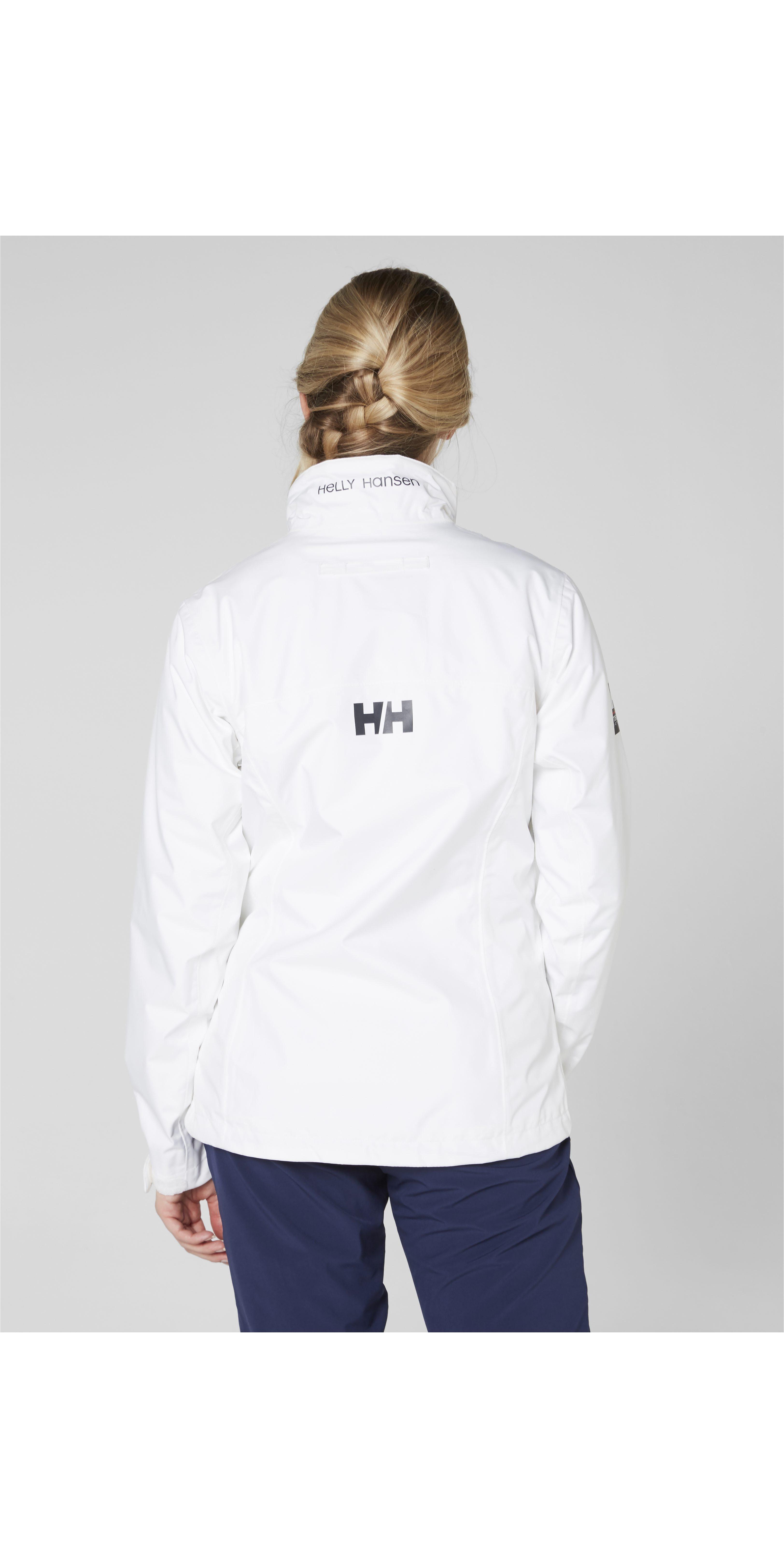 2019 Helly Hansen Damen Crew Jacke Weiß 30297