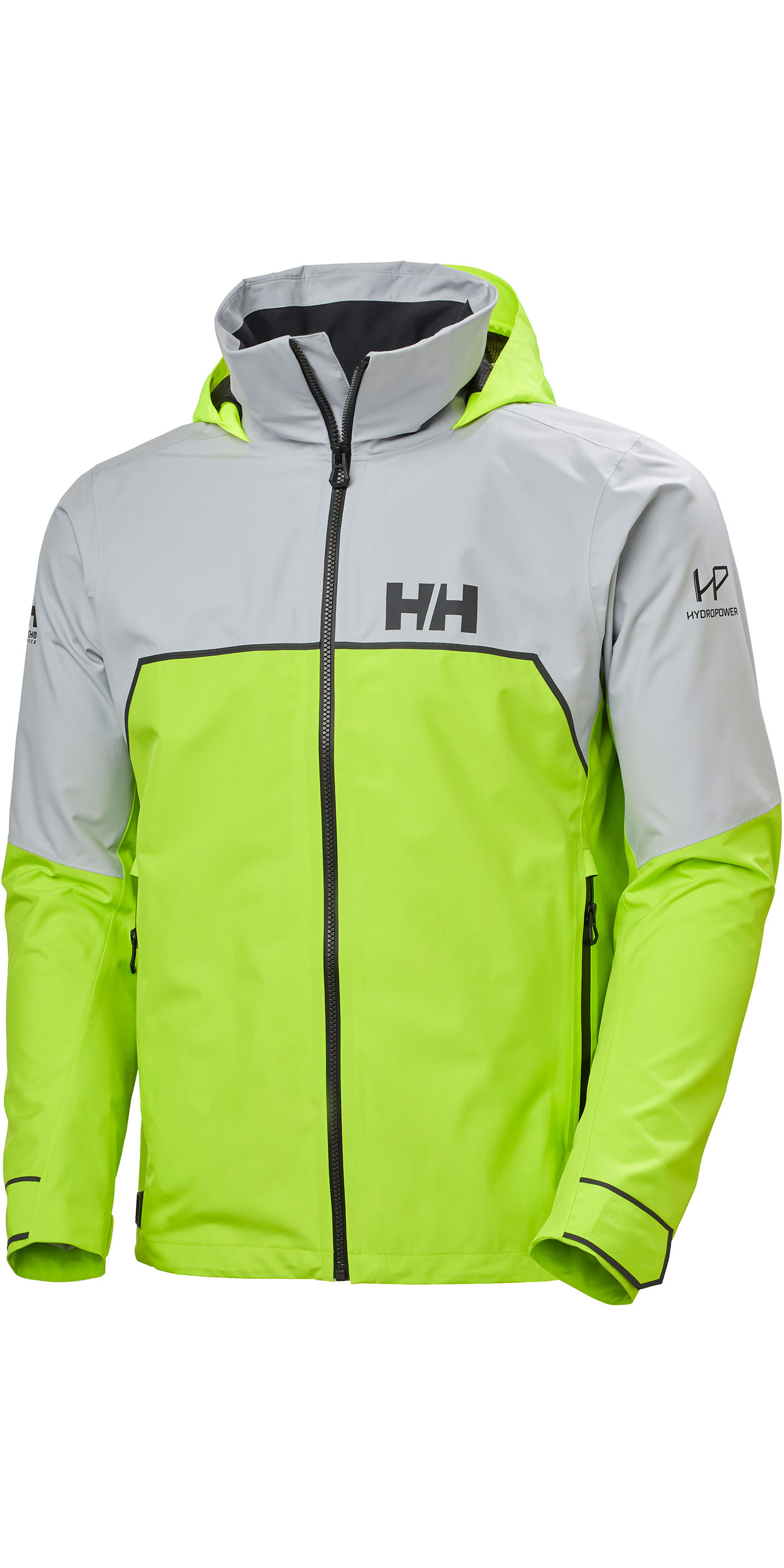 2020 Helly Hansen Mens HP Foil Light Sailing Jacket 34151 - Azid Lime