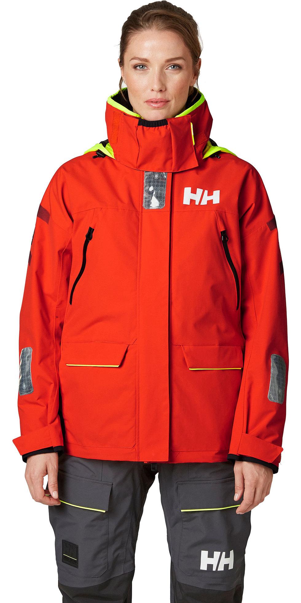2020 Helly Hansen Dames Crew Jas Alert Rood 30297 Zeilen