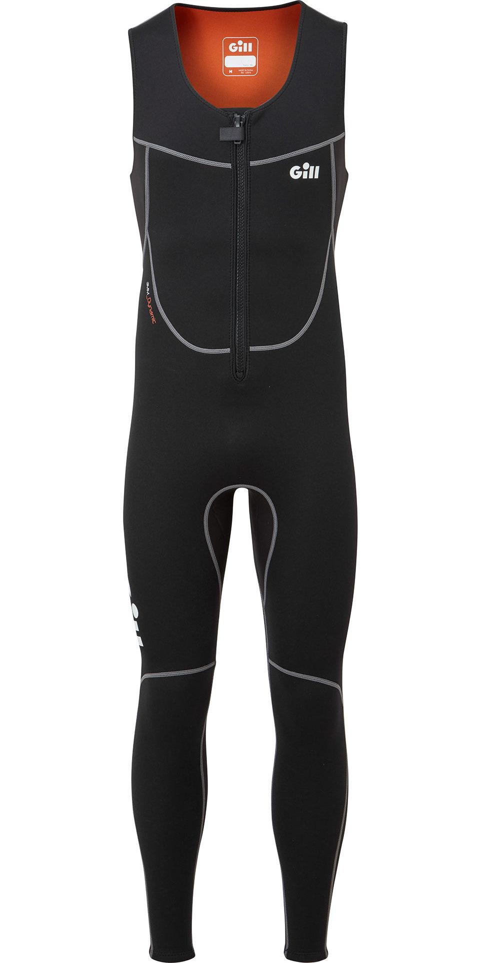 2020 Gill Junior Dynamic 3mm Long John Wetsuit 5017j - Sort